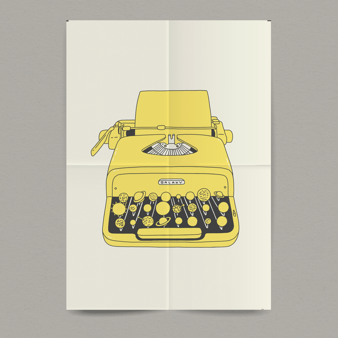 Image of In The Beginning Was The Word - Typewriter Print