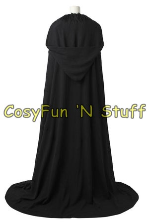 Image of Wonder Woman Diana Prince Black Cloak & Straps Cosplay Costume Custom Made