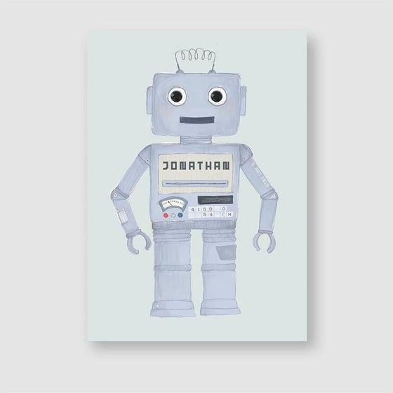 Image of Robot, navnetavle/fødselstavle