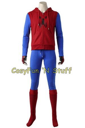 Image of Spider-Man Homecoming Peter Parker Hoodie Zipper Jacket Cosplay Costume