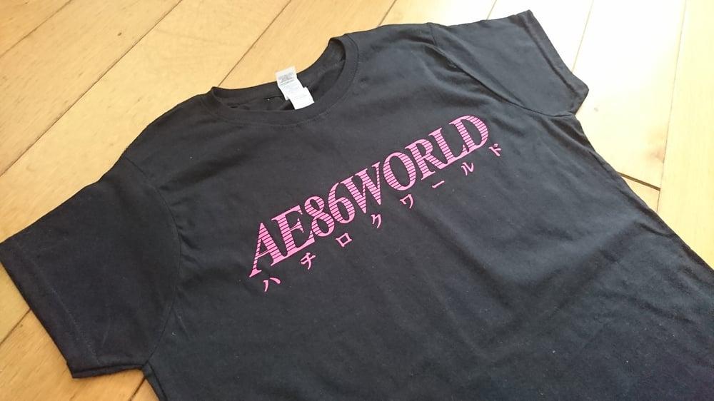 Image of AE86 WORLD Women's T-Shirt (Black / Pink)