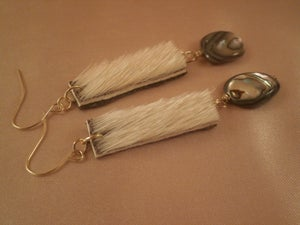 Image of Sealskin and Abalone Earrings