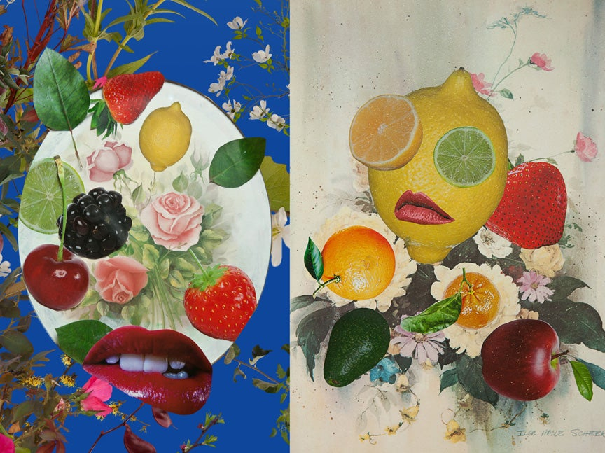 Image of Fruit Collage Note Book