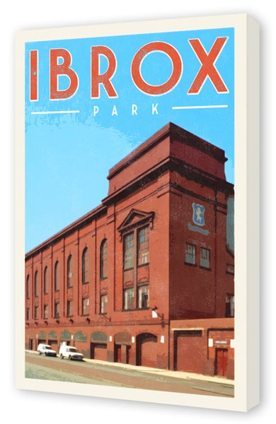 Image of Vintage style 1970's Ibrox Park