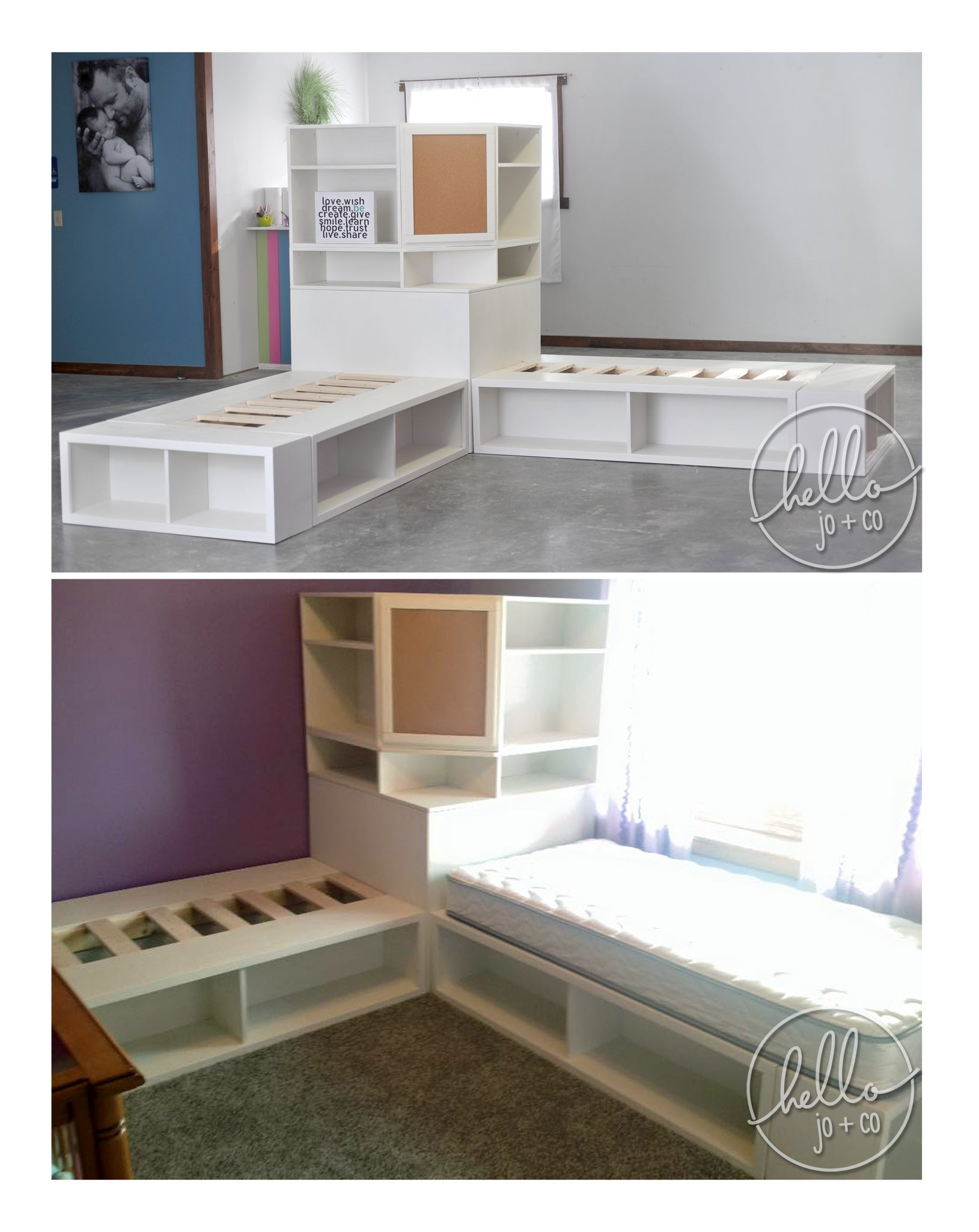 Picture of: Storage Bed With Corner Hutch Hello Jo Co