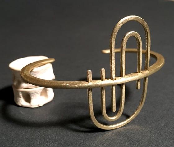 Image of Piercing Cosine Curve Bracelet