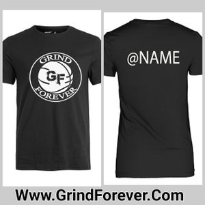 Image of GRINDFOREVER TEE WITH INSTAGRAM NAME ON BACK