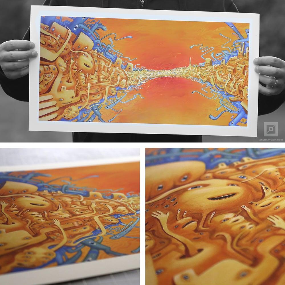 "Image of ""Gathering at the Fold"" Art Print"