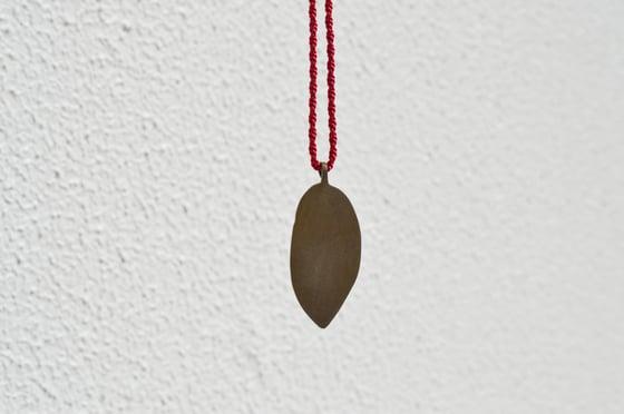Image of Shibuichi leaf pendant