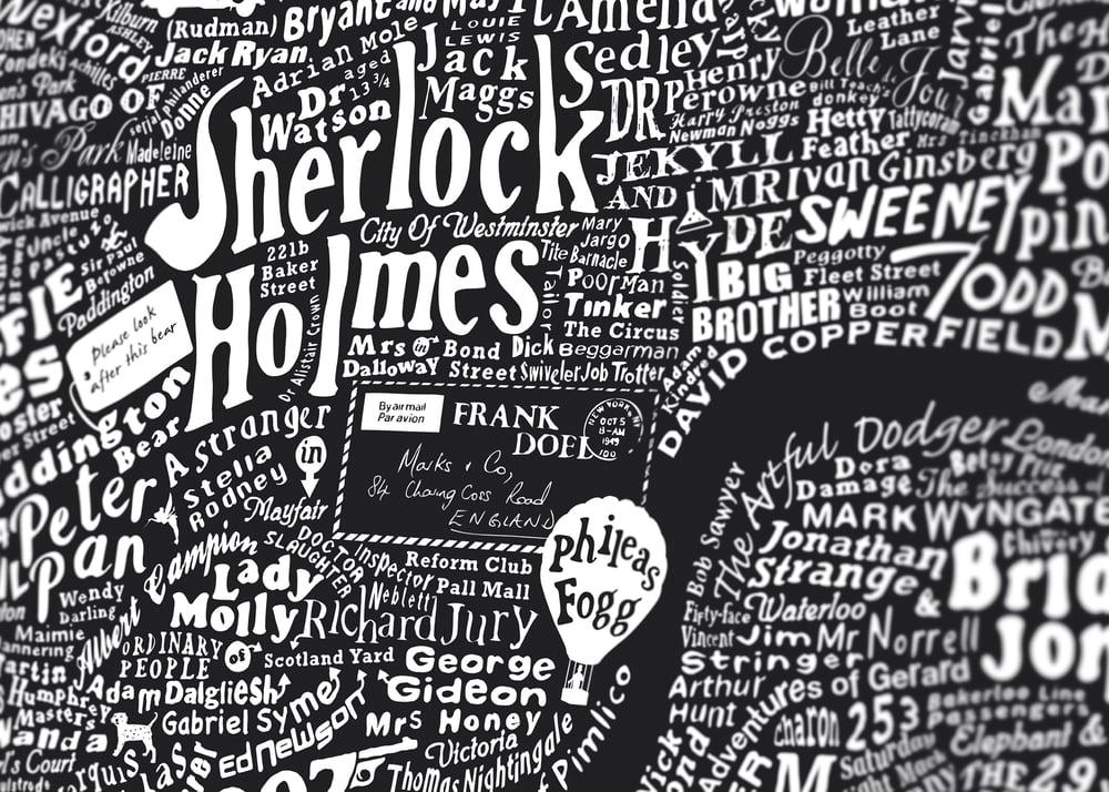 Literary London Map (Dark Blue Plike)