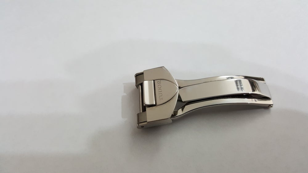 Image of TUDOR 16MM STAINLESS STEEL DEPLOYMENT CLASP/BUCKLE FOR STEEL STRAPS.(TU-3)
