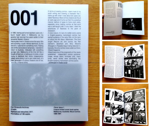 Image of Con Chrisoulis Archives CCA001 — CLANS Issue 1