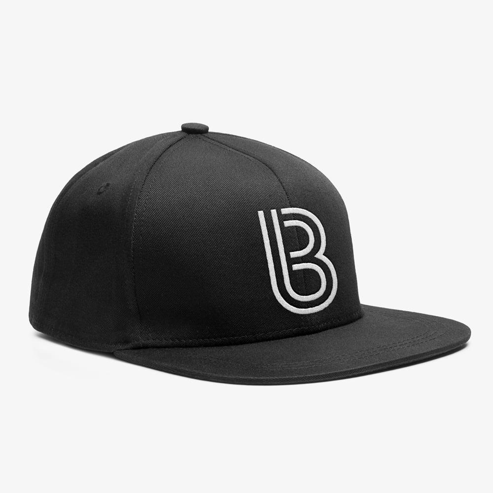 Image of Bedrock Inline Snapback Hat in Black