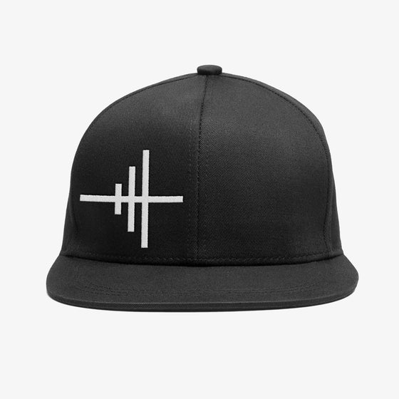 Image of Bedrock Frequency Snapback Hat in Black Pre-order