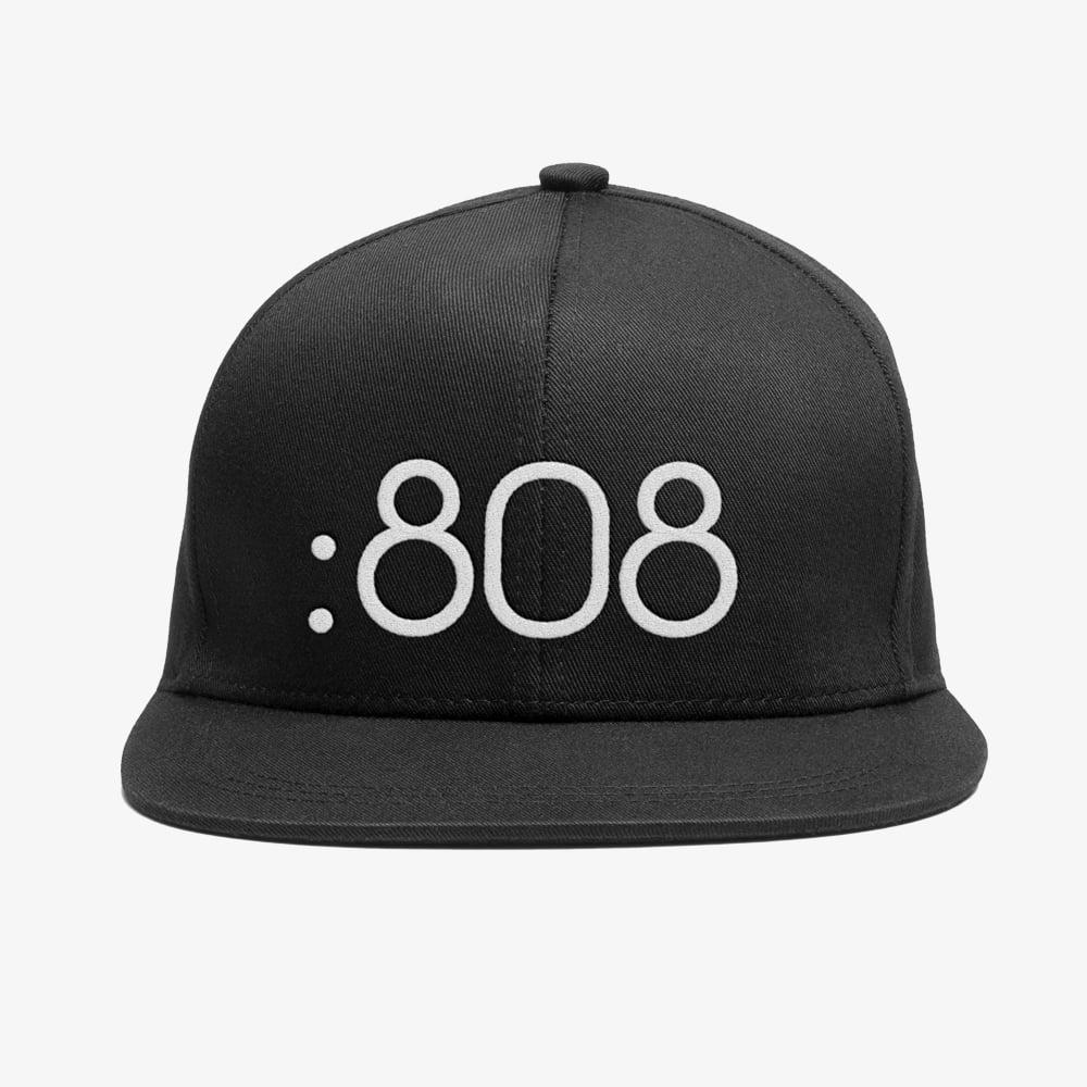 Image of Bedrock 808 Snapback Hat in Black