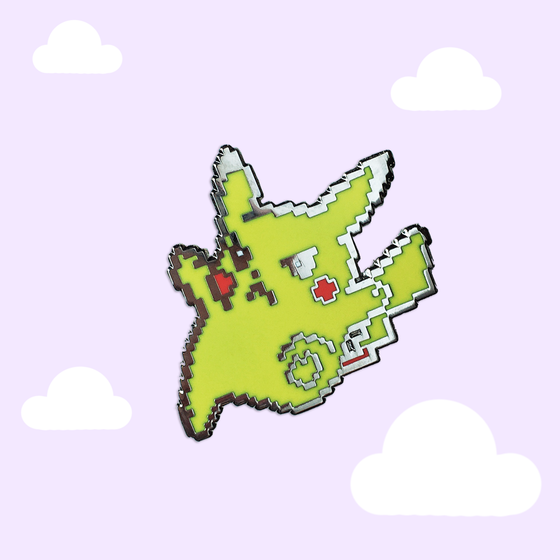 Image of 8bit OG Kicking Pika