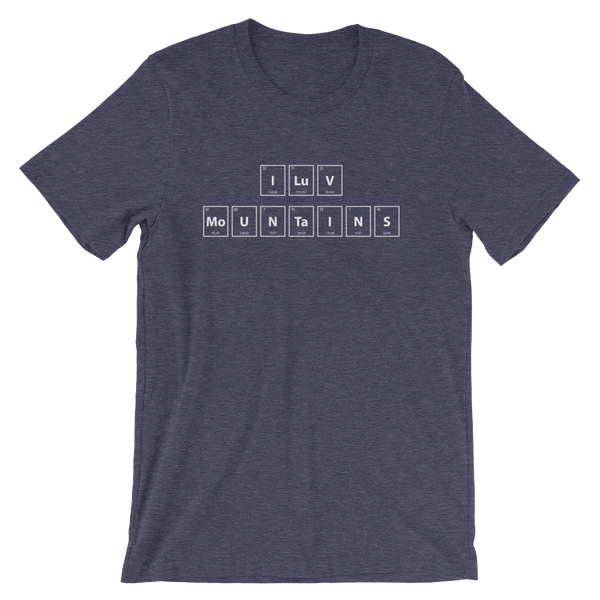 Image of Men's I LuV MoUNTaINS Tee - Navy
