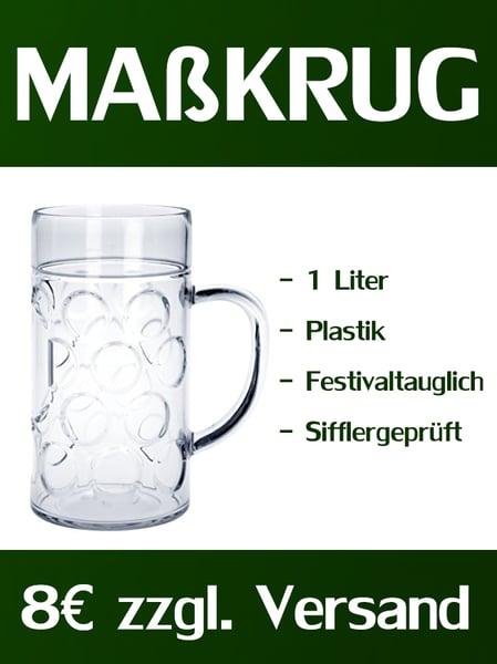 Image of Festival Maßkrug (1Liter) aus Plastik