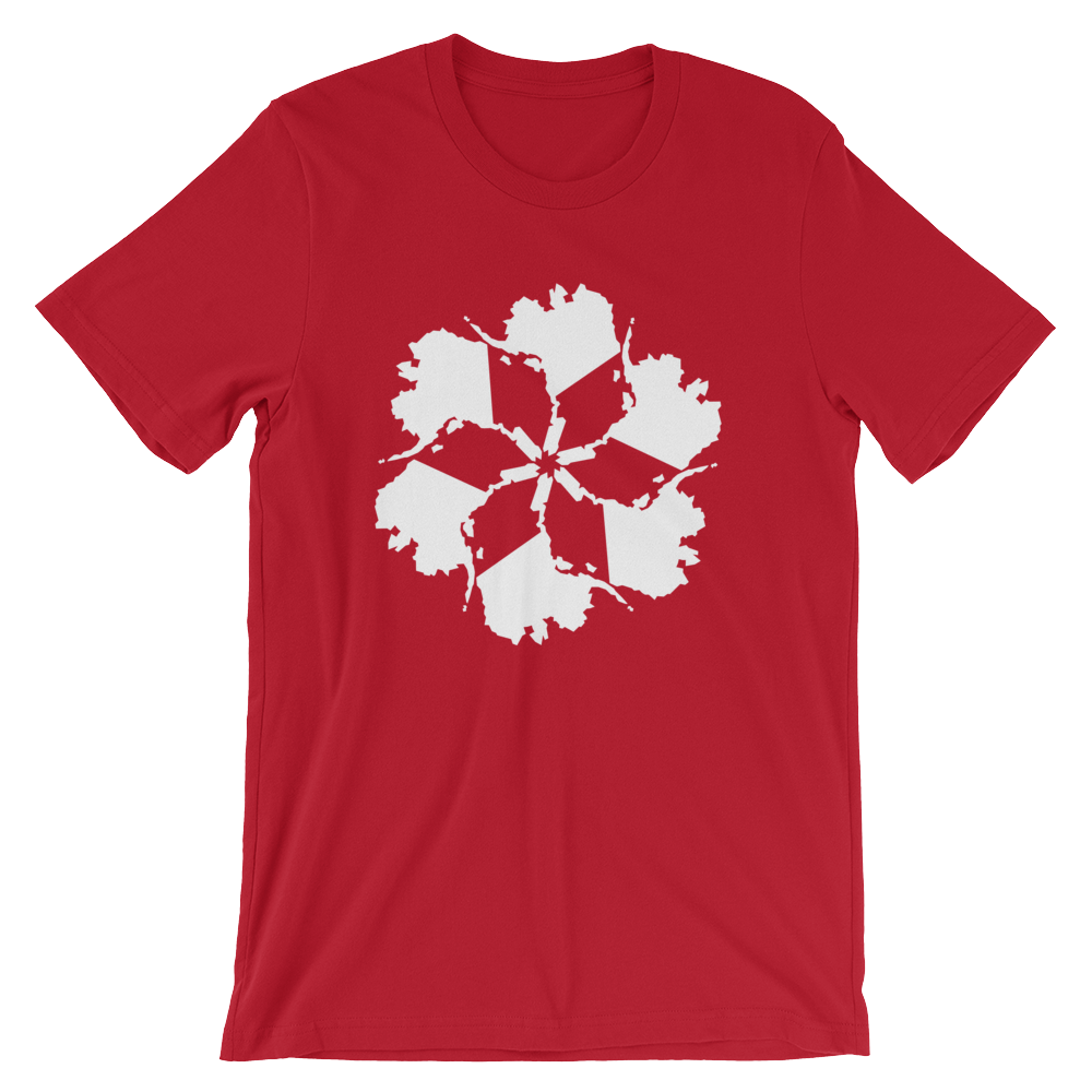 Image of Men's Alaska Spiral Tee - Red