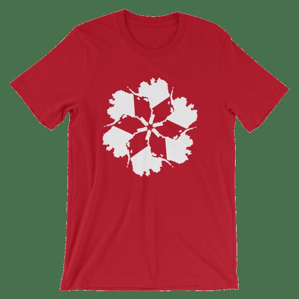 Image of Men's Alaska Spiral Tee - Red