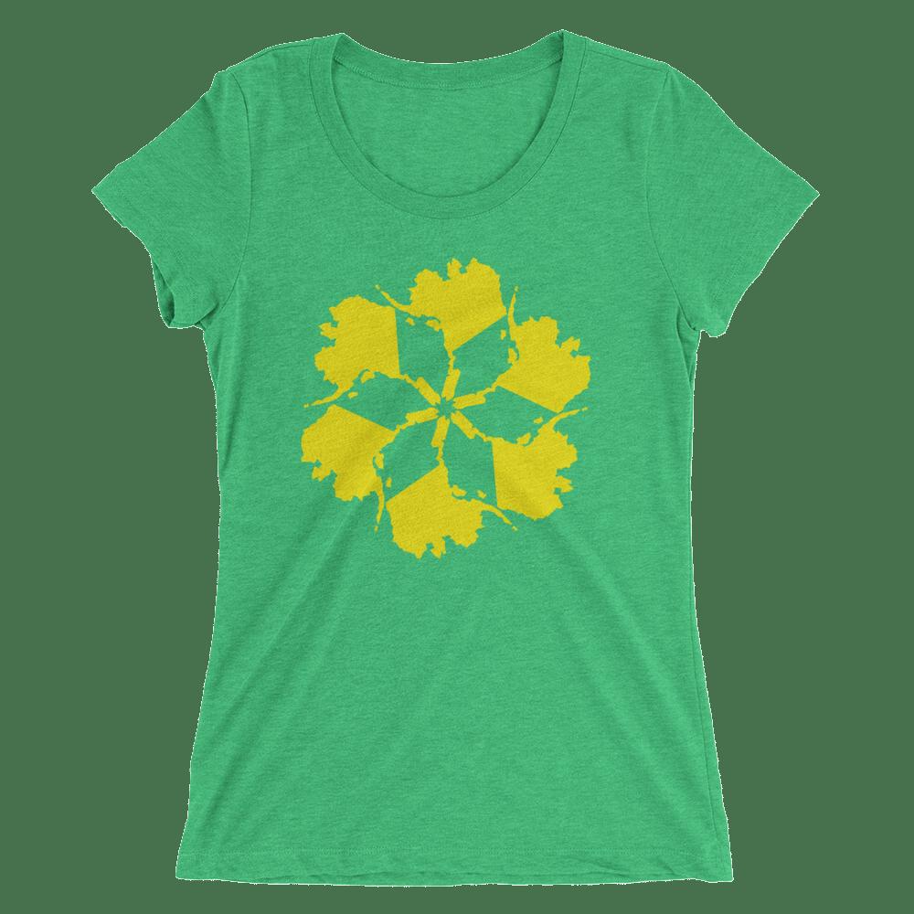 Image of Women's Alaska Spiral Tee - Green