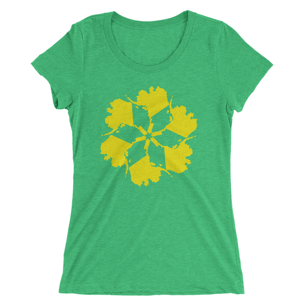 Image of Women's Alaska Spiral Tee - Green
