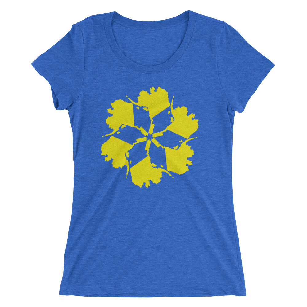 Image of Women's Alaska Spiral Tee - Blue