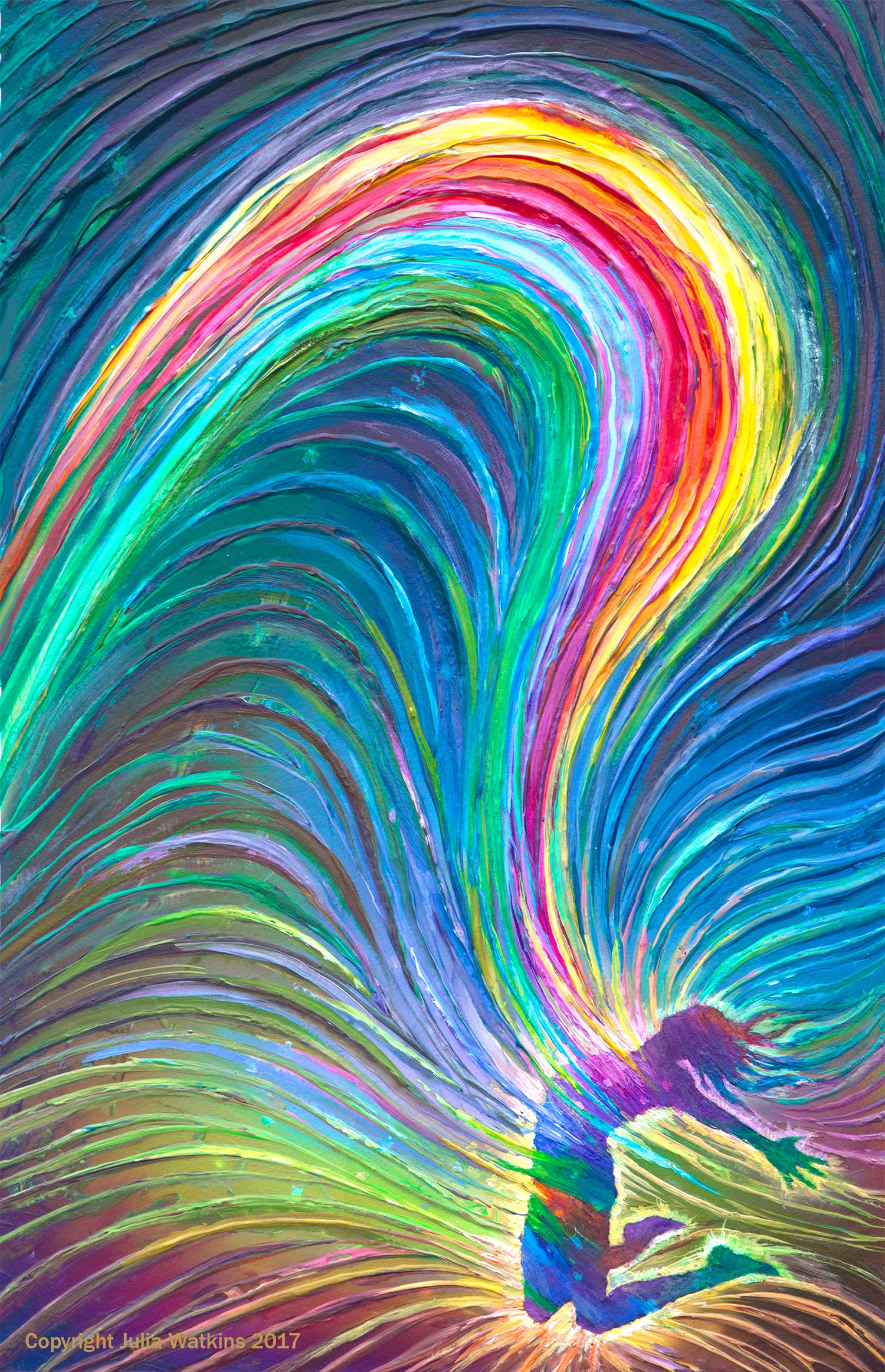 The Energy Art Store By Julia Watkins  U2014 Rainbow Woman