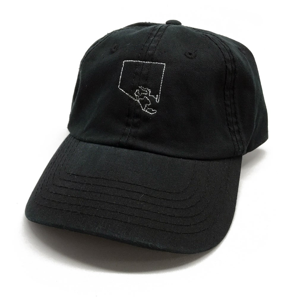 Image of City Outline Dad Hat (black)