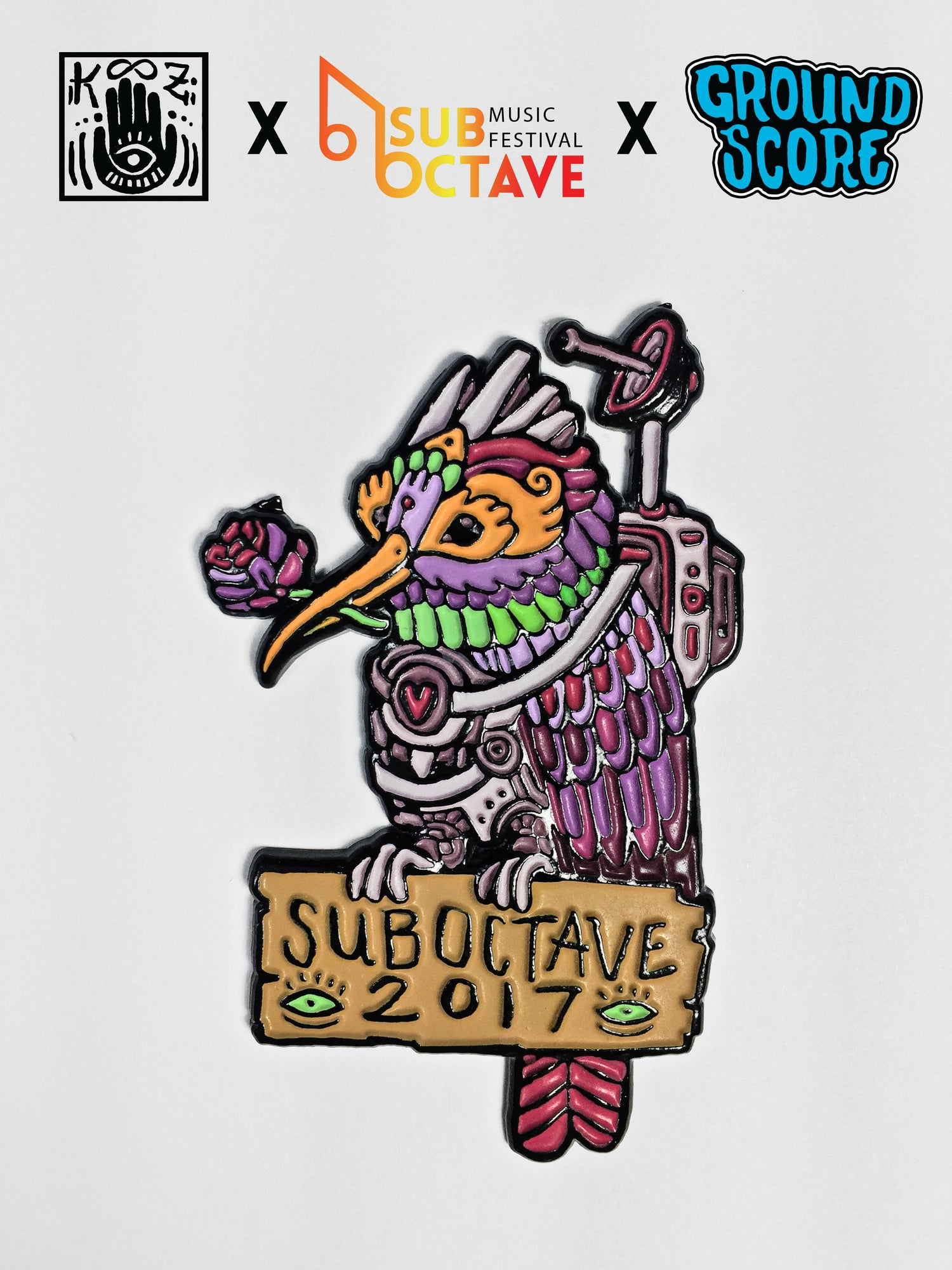 Official SubOctave Music Festival Pin