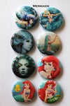 Mermaid 1  Flair Buttons