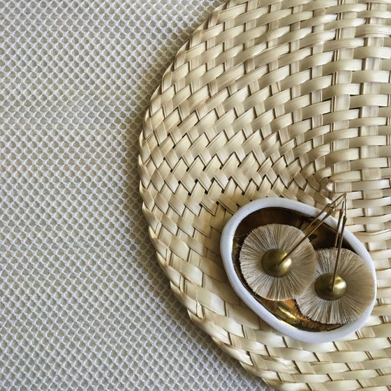 Image of •Mawu• hoop earrings:  natural