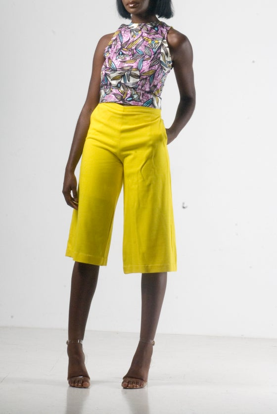 Image of Jaune Culotte Set