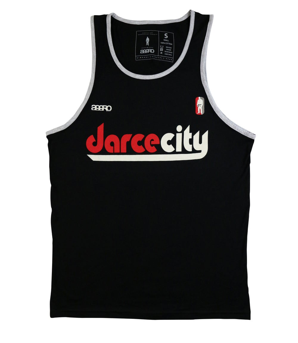 "Image of AGGRO Brand ""DarceCity"" Contrast Tank Top"