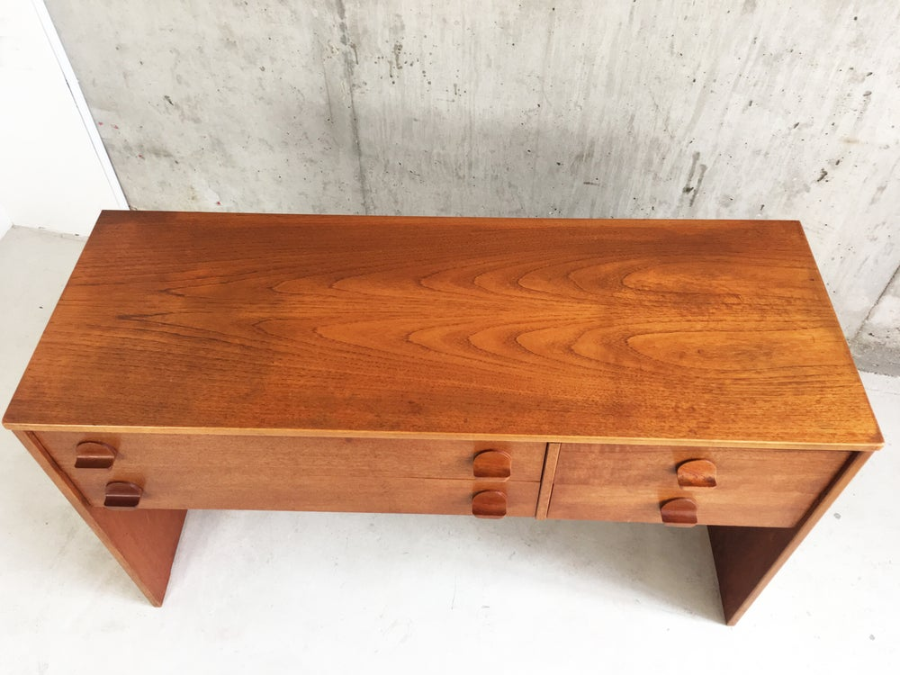 Image of 1960's mid century Stag Cantata elevated chest of drawers by John & Silvia Reid