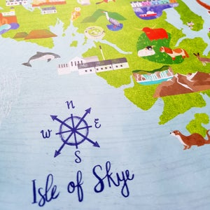 Image of Isle of Skye Map