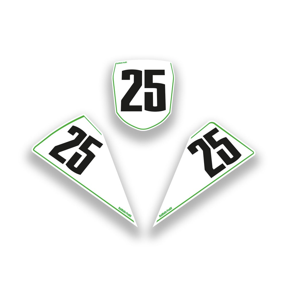 Image of  Race Number Boards. To Fit Kawasaki ZX-10R 2015> (+2011-14)