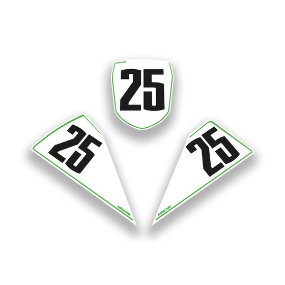 Image of  Race Number Boards. To Fit Kawasaki ZX-10R 2016> (+2011-15)