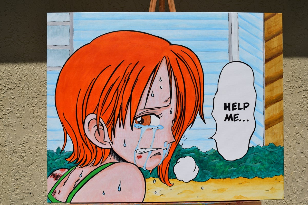 Image of 5x7 Print- Nami in distress (East Blue)