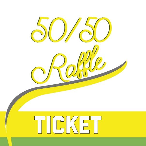 Image of 50/50 RAFFLE TICKET