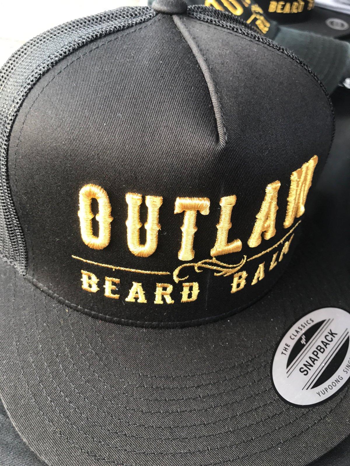 Image of OUTLAW BEARD BALM BLK MESH SNAPBACK
