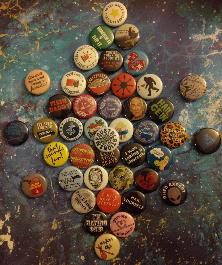 Image of 74 LPOTL Themed Buttons - Hail Yourself!