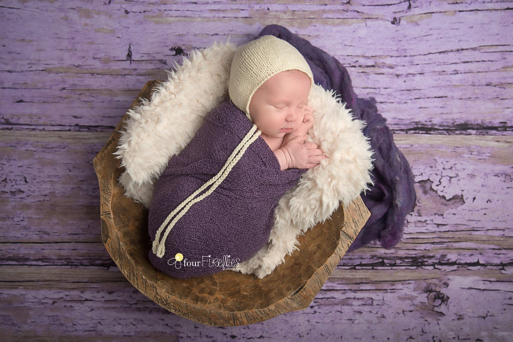 Image of Purple  Barn Wood- Fabric Backdrop