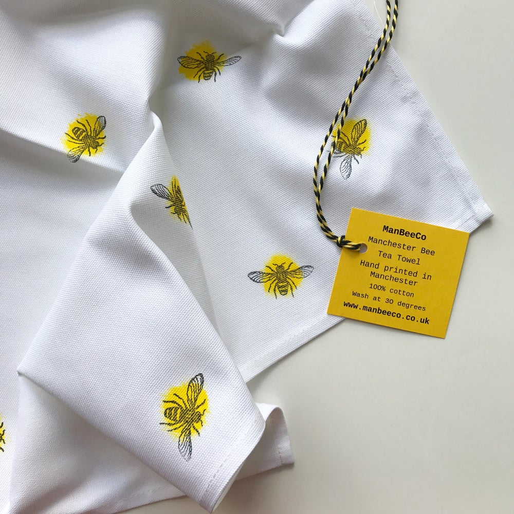 Image of Manchester Bee Cotton Tea Towel