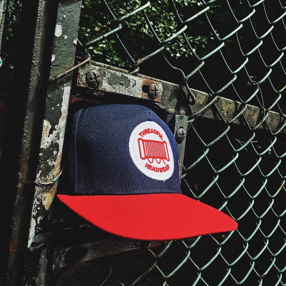 Image of Navy & Red Snapback