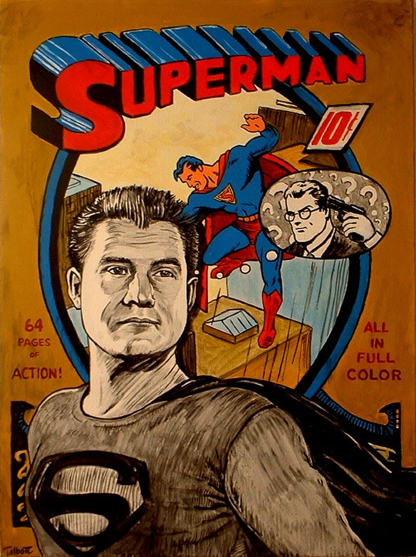 """Image of """"George Reeves"""" signed canvas print"""