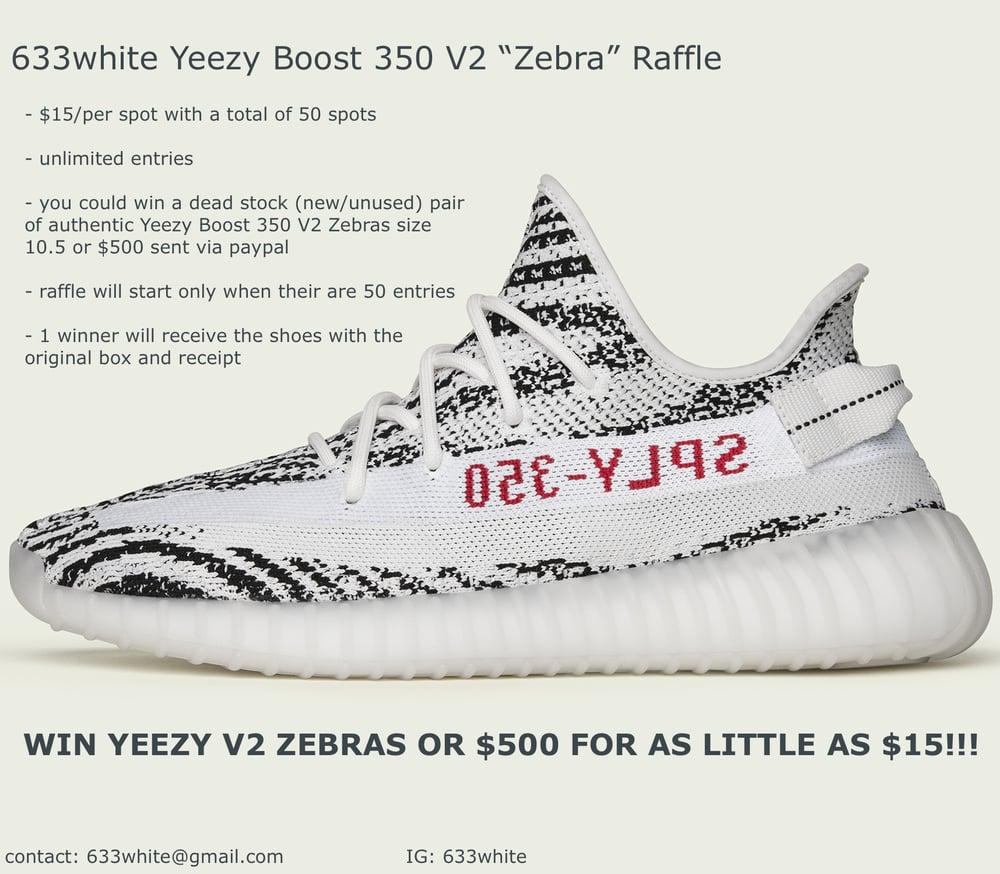 detailing a62bc 6efa9 Yeezy boost 350 V2 Zebra Raffle