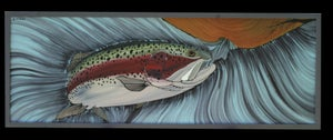 Image of Big Shady- Original rainbow trout painting
