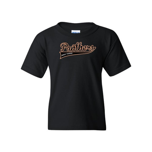 Image of Youth Panthers Logo Tee (Black)