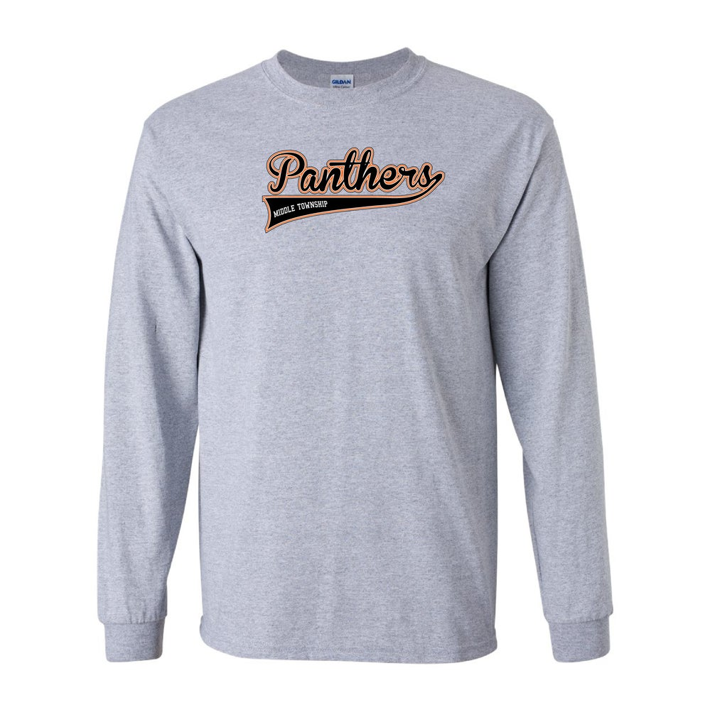 Image of Panthers Logo Longsleeve Tee (Grey)